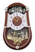 Rhythm Deluxe 30 Melodies Musical Motion Wall Clock