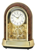 Rhythm Deluxe Musical Mantel Clock 36 Melodies Woodgrain - GTM2680
