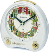 Rhythm Christmas Morning Musical Alarm Clock Plays 38 Melodies - GTM2700