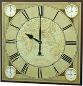 Rhythm Different Time Zone Wall Clock - GTM2618