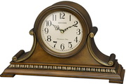 Rhythm GTM2760 Deluxe 19 Melodies Chiming Musical Wooden Mantel Clock With Holiday Songs