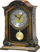 Rhythm Deluxe Musical Mantel Clock Quartz Wooden Case - GTM2514