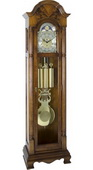 German Hermle Deluxe Triple Chiming Mechanical Grandfather Clock - JHE2581