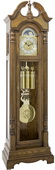 German Hermle Deluxe Triple chime Grandfather Clock in Medium Oak Finish - JHE2538