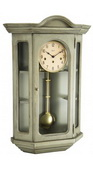 German Hermle Deluxe Curio Mechanical Wooden Wall Clock Gray - JHE2653