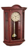 German Hermle Deluxe Curio Mechanical Wooden Wall Clock Red - JHE2659