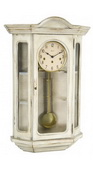 German Hermle Deluxe Curio Mechanical Wooden Wall Clock White - JHE2662