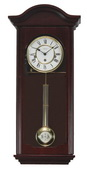German Hermle Deluxe Keywound Chiming Wall Clock Cherry Finish - JHE2247