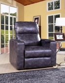 Aqua Pear Larson Deluxe Magnetite Power Recliner with USB & Storage by Pulaski - JPK3300
