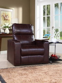 Aqua Pear Larson Deluxe Cocoa Power Recliner with USB & Storage  JPK3301