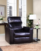 Aqua Pear Larson Deluxe Black Power Recliner with USB & Storage  JPK3302