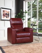 Aqua Pear Deluxe Larson Cranberry Power Recliner with USB & Storage  JPK3303