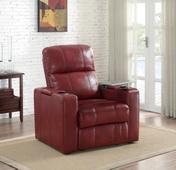Aqua Pear Larson Cardinal Power Recliner With Usb & Storage by Pulaski - JPK5524