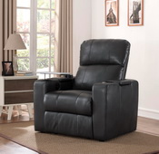 Aqua Pear Larson Charcoal Power Recliner With Usb & Storage by Pulaski - JPK5526