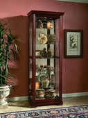 Aqua Pear Salida Deluxe Victorian Cherry Two Way Sliding Door Curio Cabinet by Pulaski - JPK3072