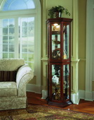 Aqua Pear Wickford Curio Cabinet by Pulaski - JPK3088