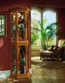 Aqua Pear Williamsburg Deluxe Curio Cabinet by Pulaski - JPK3090
