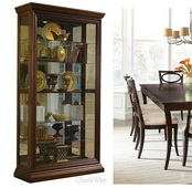 Pulaski Madison 43in Wide Curio Cabinet Solid Wood in Edwardian Cherry - JPK3132