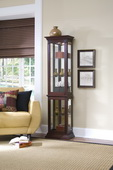 Aqua Pear Worcestershire Deluxe Designer Curio Cabinet in Cherry Finish  JPK3216