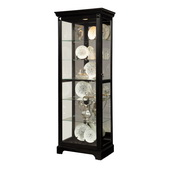 Aqua Pear Slough Deluxe Black Curio by Pulaski - JPK4488