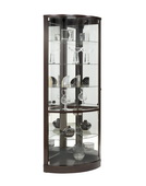 Pulaski Premier Deluxe Corner Curio in Sable Dark Wood Finish - JPK4520