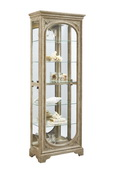 Aqua Pear Providence Deluxe Curio Light Wood in White Wash Finish  JPK4524