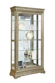 Pulaski Edinburgh Curio Cabinet Solid Wood in Distressed Wood Finish - JPK4534
