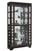 Pulaski Brighton Sliding Front Wine Curio in Sable Dark Brown Finish - JPK3504