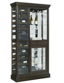 Pulaski Aberdeen Wine Curio Solid Oak in Hillsville Dark Brown Finish - JPK3506