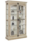 Aqua Pear Beaumont Deluxe Door Curio Solid Oak in Hailey Finish JPK3510