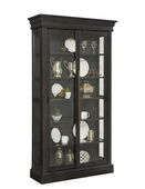 Pulaski Cordova Sliding Door Curio Solid Wood in Charcoal Finish- JPK3514