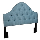 Aqua Pear Deluxe Tuxedo Seafoam King/Cal King Upholstered Headboard by Pulaski - JPK4040