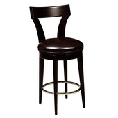 Aqua Pear Luxury Deluxe Dark Wood Barstool by Pulaski - JPK3978