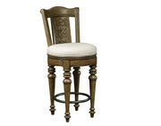 Aqua Pear Elegant Deluxe Medium Finish Wooden Bar Stool by Pulaski - JPK3984