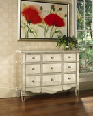 Aqua Pear Deluxe Mirrored Accent Chest  JPK3706
