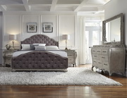 Aqua Pear Rhianna Deluxe Upholstered Queen Bed  JPK5218