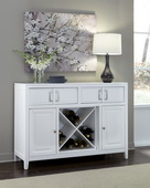 Aqua Pear Brighton White Server by Pulaski - JPK4638