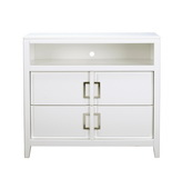 Pulaski Brighton White TV Stand - JPK4312