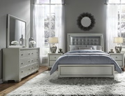 Aqua Pear Celestial Deluxe Queen Upholstered Bed by Pulaski - JPK5430