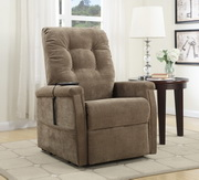 Aqua Pear Montreal Deluxe Coffee Fabric Lift Chair by Pulaski - JPK3321