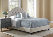 Aqua Pear Deluxe All-N-One Fully Upholstered Tufted Saddle Queen Bed by Pulaski - JPK3338