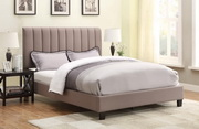Aqua Pear Deluxe Queen Upholstery All-In-One Bed by Pulaski - Sterling Taupe by Pulaski - JPK3383