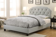 Aqua Pear Deluxe Queen Upholstery All-In-One Bed by Pulaski - Trespass Marmor - JPK3385