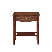 Aqua Pear Deluxe Drawer Accent Table-Red & Gold Asian Influence  JPK3392