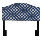 Aqua Pear Deluxe Full/Queen Upholstered Headboard  Quatrefoil Navy