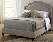 Shaped Nailhead Deluxe King Upholstered Bed  JPK5026