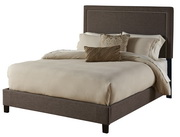 Aqua Pear Square Nailhead Deluxe Queen Upholstered Bed by Pulaski - JPK5030