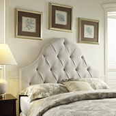 Aqua Pear Deluxe Round Top Tufted Headboard  Full/Queen  by Pulaski - JPK3464