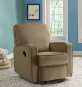Aqua Pear Sutton Deluxe Swivel Glider Recliner Stella Straw by Pulaski - JPK3473