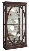 Aqua Pear Brookville Oval Framed Wooden Curio Cabinet by Pulaski - JPK5522